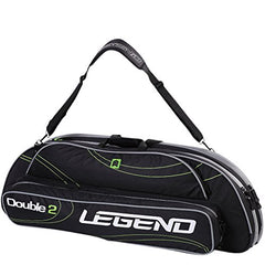 Legend Archery Double2 Bow Case for 2 Compound Bows up to 41 ATA (Black/Green)