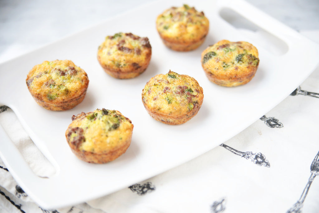 Egg Muffins with Beef and Broccoli