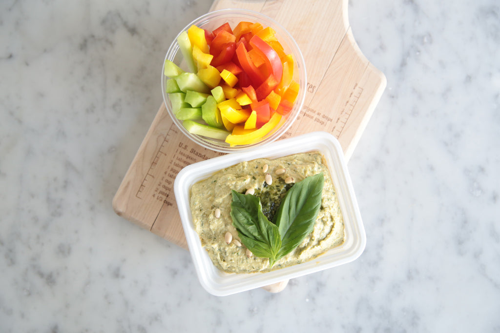Pesto Hummus and Vegetables