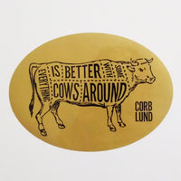 Cows Around Sticker