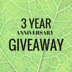 3 year giveaway