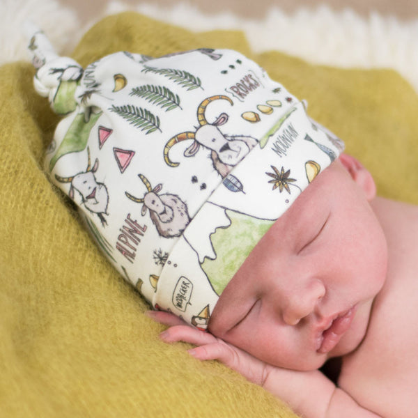 Billy Goat Organic Cotton Knotted  Baby Hat