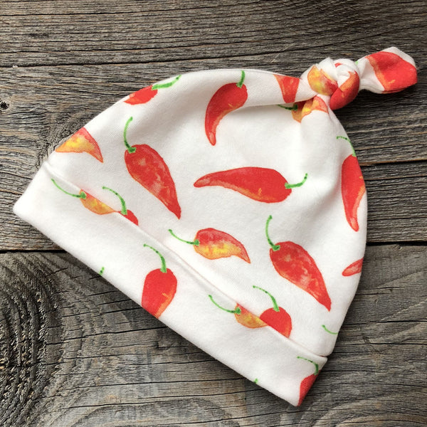 Chili Pepper Organic Knotted Baby Hat