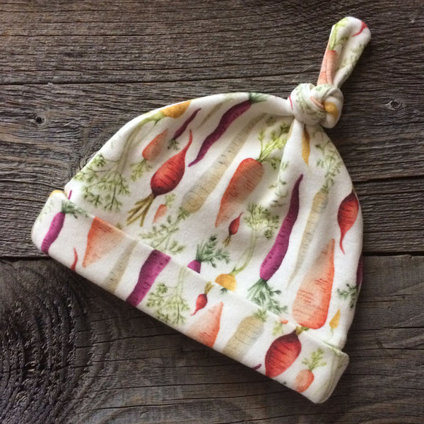 Carrots Organic Knotted Baby Hat