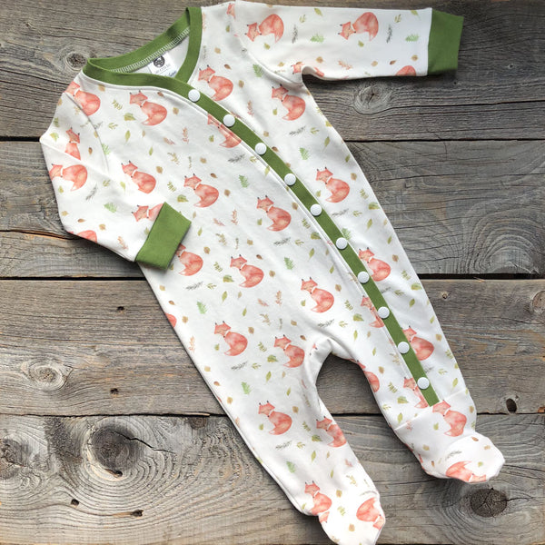 Woodland Fall Fox Organic Footed Sleeper