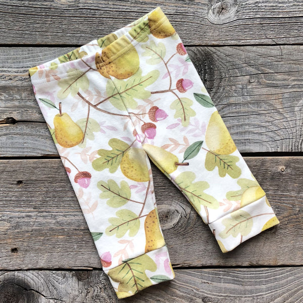 Fall Pear Organic Baby Leggings