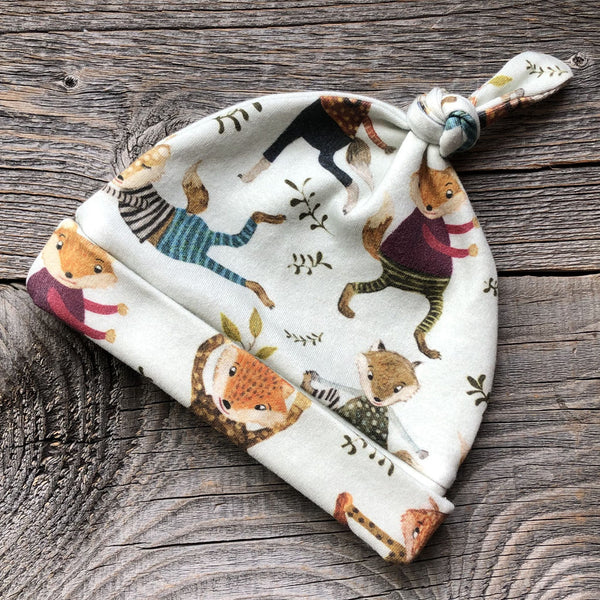 Yoga Fox Organic Baby Hat