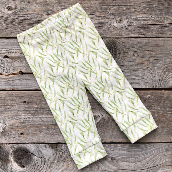 Green Onion Organic Baby Leggings