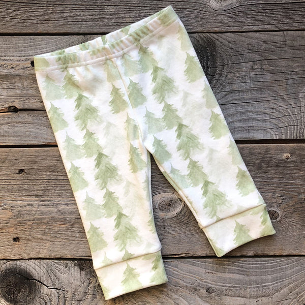 Foggy Pines Organic Baby Leggings