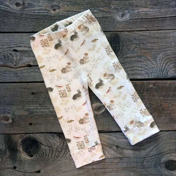 Woodland Animals Organic Baby Leggings
