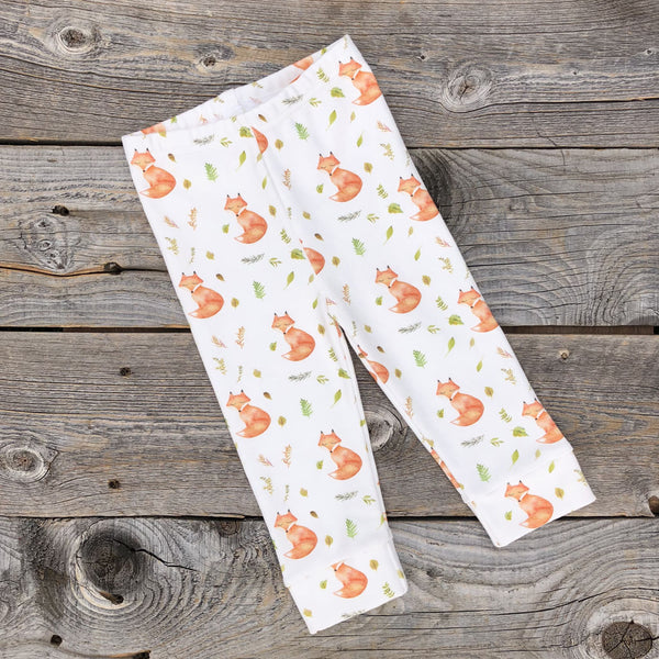 Woodland Fall Fox Organic Leggings