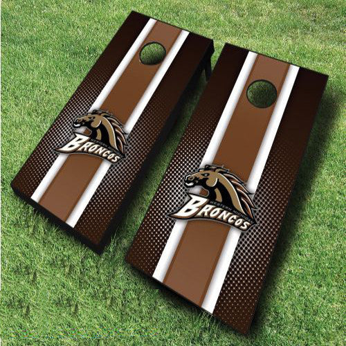 Great for Tailgates SALE Made in USA Western Michigan Broncos Striped Cornhole Boards Parties FREE Team Bags College