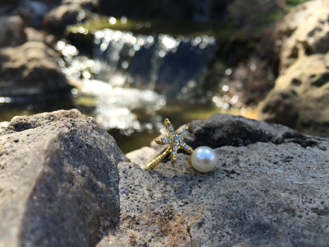 Starfish and Pearl Ring