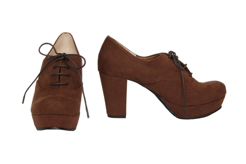 Jelly Beans - Lace-Up Booties (Brown)