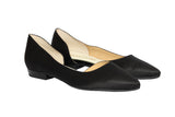 Jelly Beans - Pointy Side-Open Flat (Black)