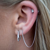Waterfall Earrings - Silver