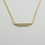 DBL Bar Necklace - YELLOW GOLD