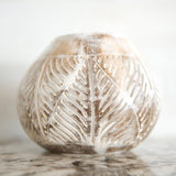 COCONUT SHELL CANDLE HOLDER LEAF