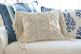 MACRAME THROW PILLOW COVER