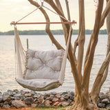 Tufted Single Swing - Integrated Pewter