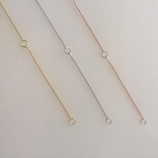DBL Bar Necklace - ROSE GOLD