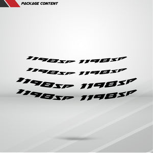 Dual Pack Inner Rim Tape Sticker Decal for Ducati 1198sp