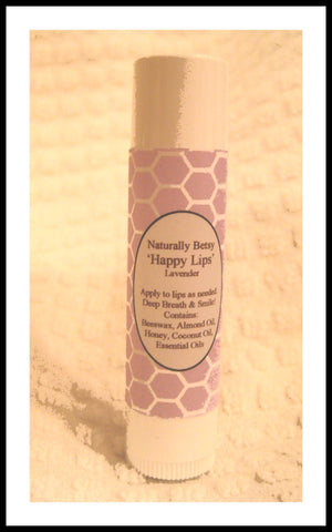 """Happy Lips"" All Natural Lavender Lip Balm"