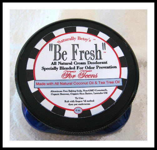 """Be Fresh"" All Natural Cream Deodorant ~ Teens"