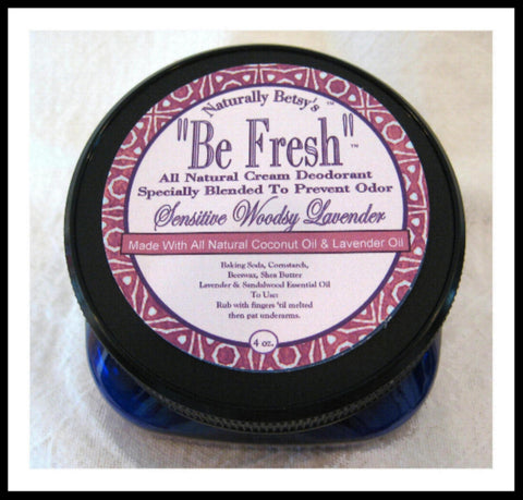 """Be Fresh"" All Natural Cream Deodorant ~ Sensitive Woodsy Lavender"