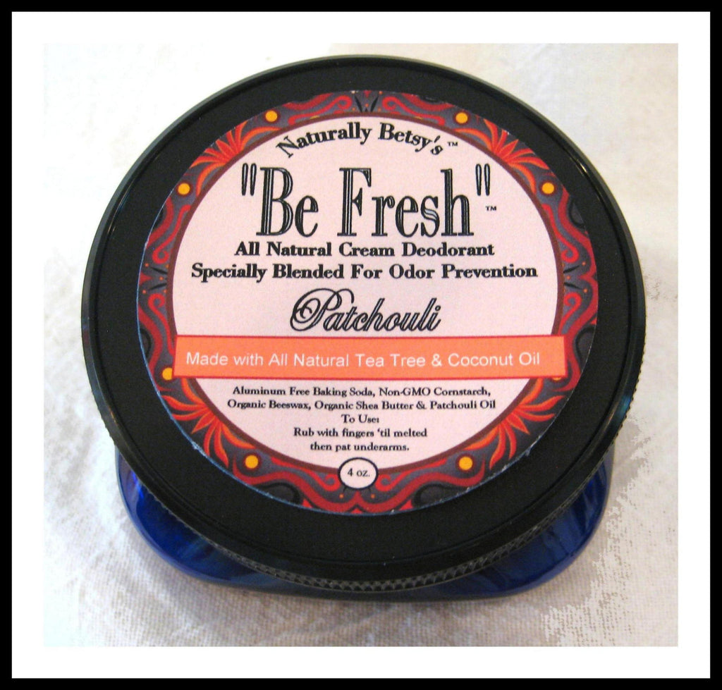 """Be Fresh"" All Natural Cream Deodorant ~ Patchouli with Tea Tree"