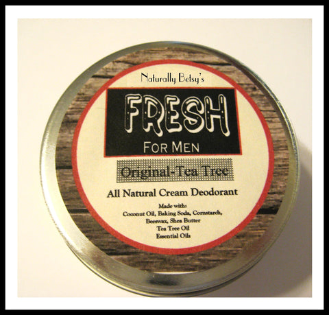 """Fresh"" All Natural Deodorant for Men"