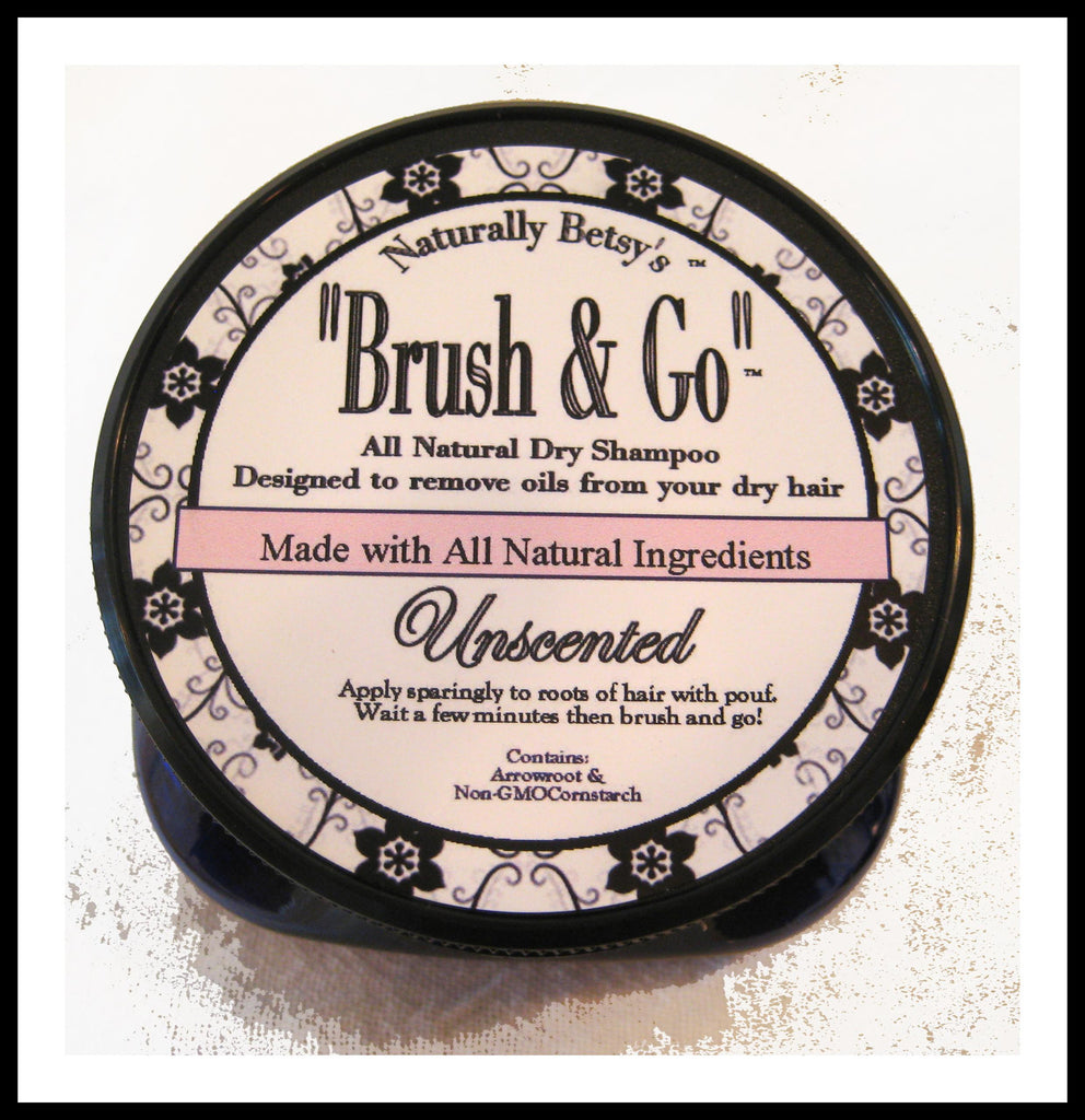 """Brush & Go"" All Natural Dry Shampoo ~ Unscented"