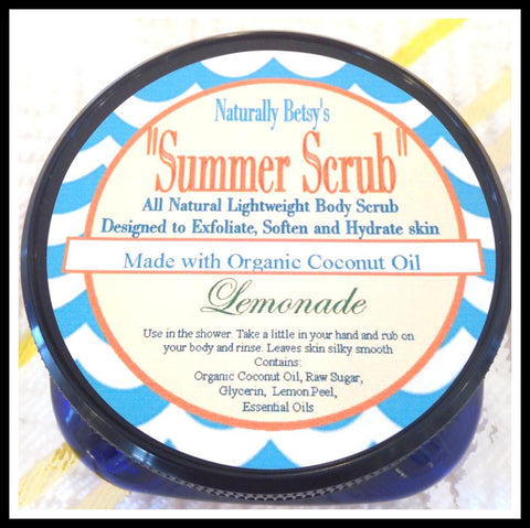"""Summer Scrub"" Light weight Body Scrub ~ Lemonade"