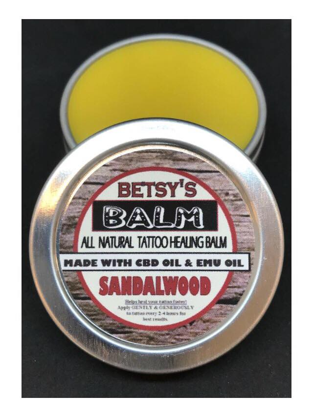 Betsy's Balm All Natural Tattoo Healing Balm with CBD with Emu