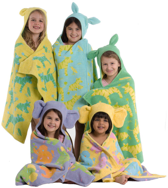 Breganwood Kids Hooded Towels, the Jungle Collection