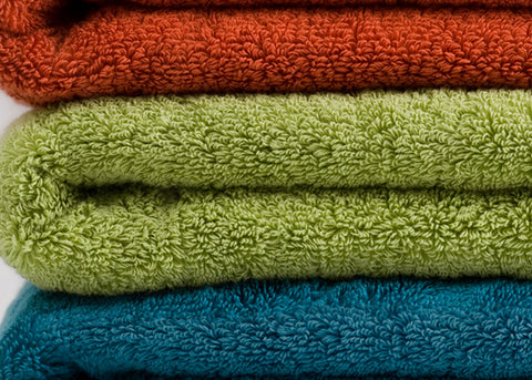 Colourful cotton towels