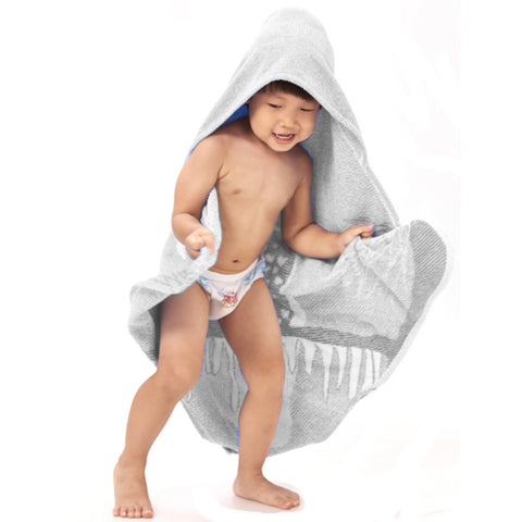 Baby Toddler Hooded Towel Grey Owl Jacquard Design 3