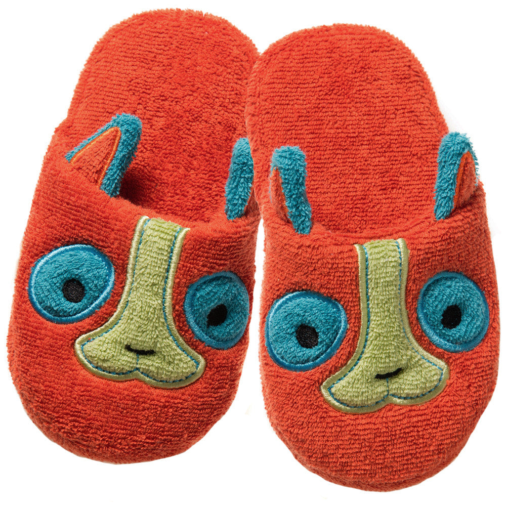 Non-Slip Slippers: Rainforest Collection -Happy Lemur