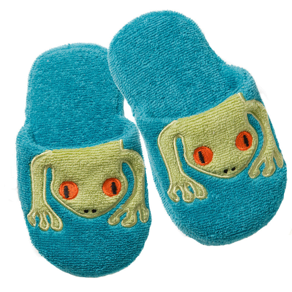 Non-Slip Slippers: Rainforest Collection -Silly Frog
