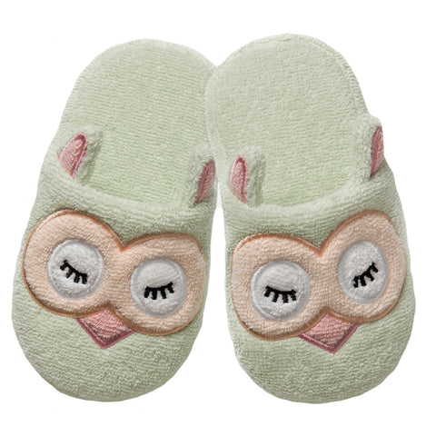Non-Slip Slippers: Woodland Collection -Sleepy Owl