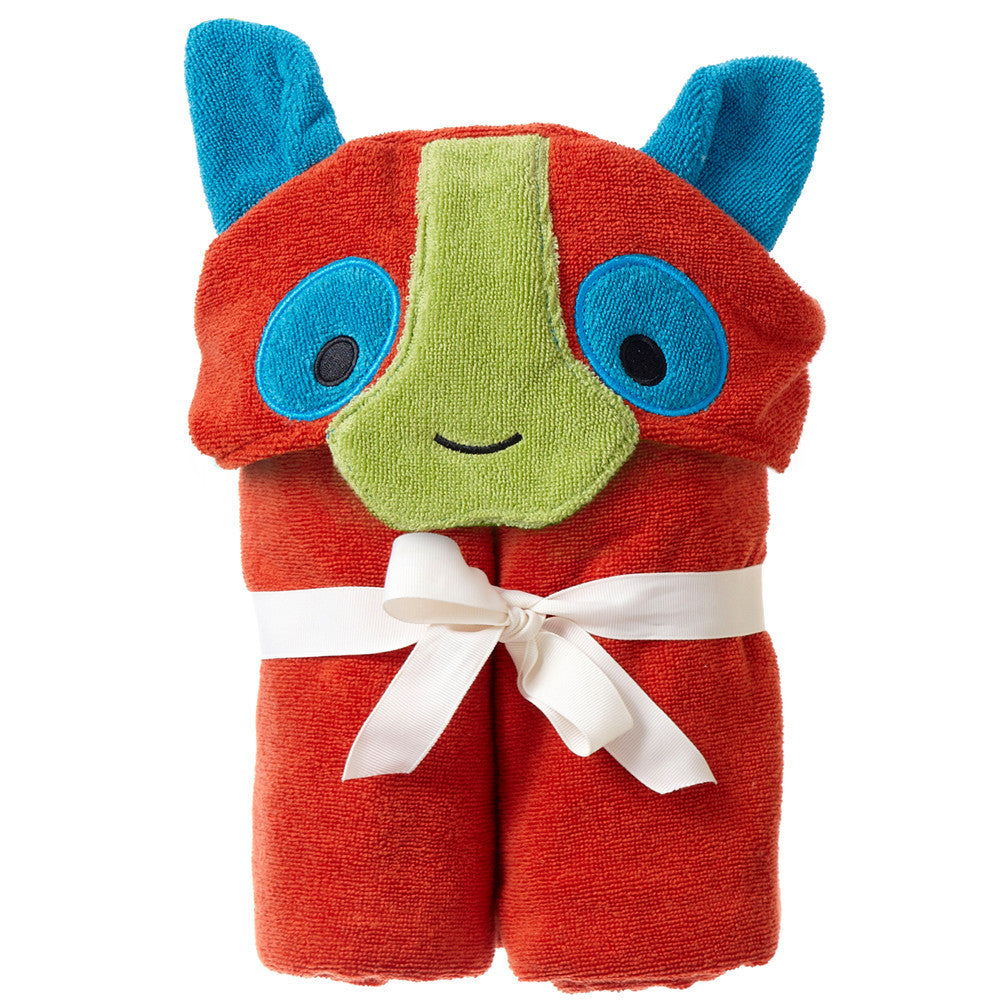 Kids Hooded Towel, The Rainforest Collection Happy Lemur - Breganwood Organics - 2