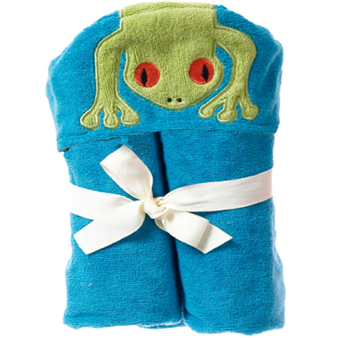 Kids Hooded Towel, The Rainforest Collection Silly Frog - Breganwood Organics - 4