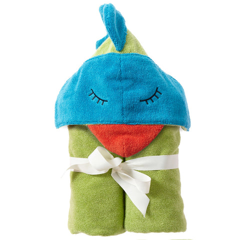 Kids Hooded Towel: Rainforest Collection -Funny Bird