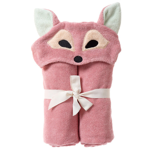 Kids Hooded Towel, The Woodland Collection Playful Fox - Breganwood Organics -2
