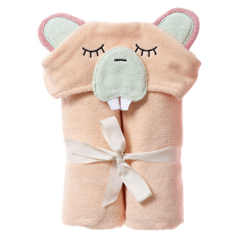 Kids Hooded Towel, The Woodland Collection, Busy Beaver - Breganwood Organics -4