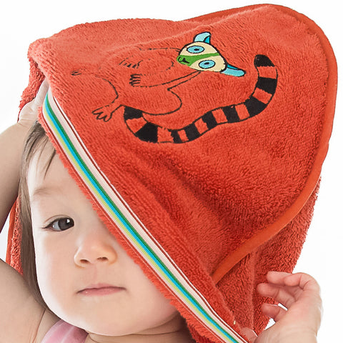 Baby & Toddler Hooded Towel: Rainforest Collection -Happy Lemur