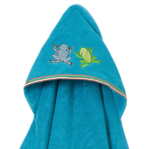 Baby & Toddler Hooded Towel: Rainforest Collection (Silly Frog) - Breganwood Organics - 8