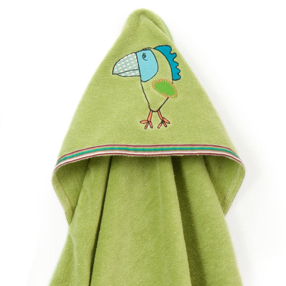 Baby & Toddler Hooded Towel: Rainforest Collection (Silly Frog) - Breganwood Organics - 5