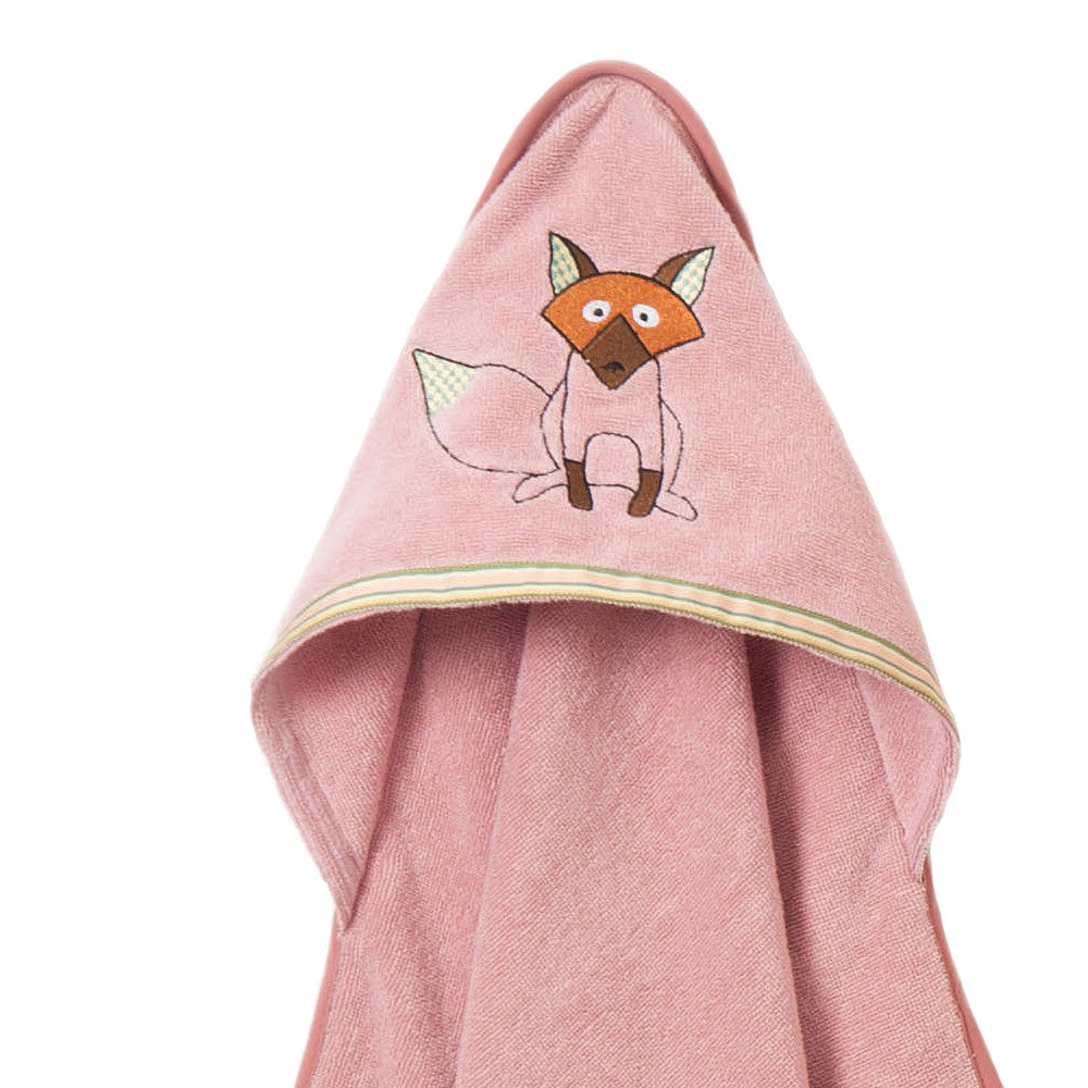 Baby & Toddler Hooded Towel: Woodland Collection (Playful Fox) - Breganwood Organics - 3