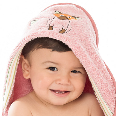 Baby & Toddler Hooded Towel: Woodland Collection Playful Fox  - Breganwood Organics - 2